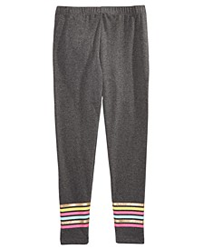 Big Girls Border-Stripe Leggings, Created For Macy's