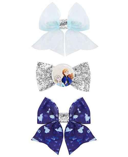 On the Verge Little & Big Girls 3-Pk. Frozen Glitter Hair Bows