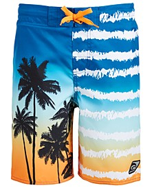 Big Boys Sunset Palms Swim Trunks