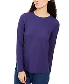 Crewneck Long-Sleeve Top, Created For Macy's