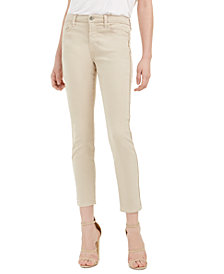 Jen7 by 7 For All Mankind Side-Piped Skinny Ankle Jeans