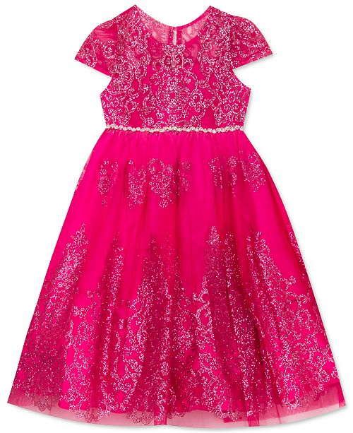 Rare Editions Toddler Girls Glitter Mesh Dress