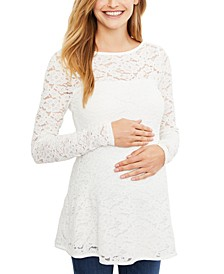 Maternity Lace Peplum Top