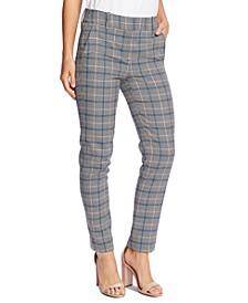 Windsor Check Straight-Leg Pants