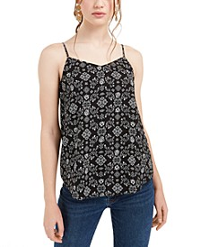 Juniors' Tile Print Cami