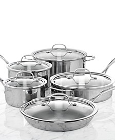 Tri-Ply Stainless Steel 10-Pc. Cookware Set