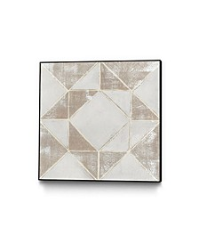 "30"" x 30"" Geometric Veil I Art Block Framed Canvas"