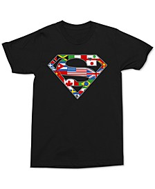 Superman World Men's Graphic T-Shirt