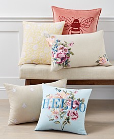 English Garden Cotton Decorative Pillow Collection