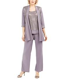 Sequined Layered-Look Pantsuit