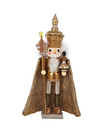 18-Inch Hollywood Gold King Nutcracker