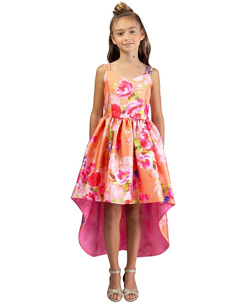 Bonnie Jean Little Girls Floral-Print High-Low Dress