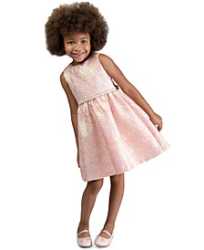 Little Girls Bow-Back Brocade Dress