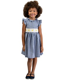 Little Girls Seersucker Daisy Dress