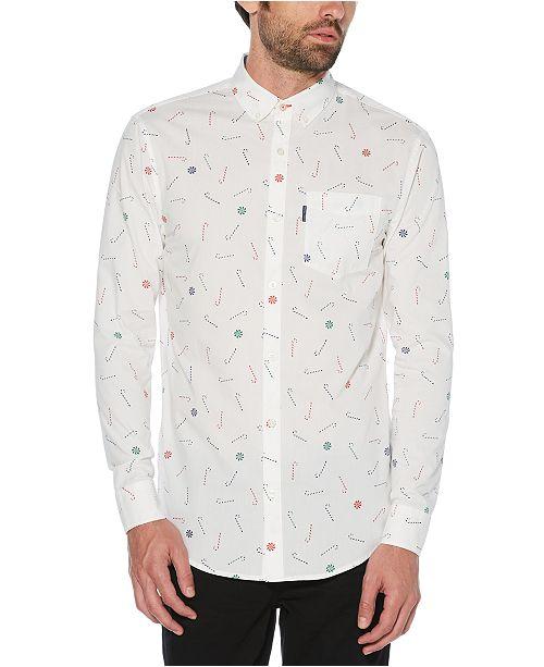 Original Penguin Men's Slim-Fit Stretch Candy-Print Shirt