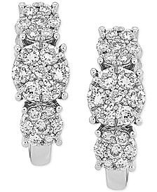 Lab Created Diamond Curved Drop Earrings (3/4 ct. t.w.) in Sterling Silver