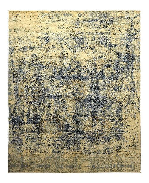 """Timeless Rug Designs CLOSEOUT! One of a Kind OOAK938 Flax 9' x 12'1"""" Area Rug"""