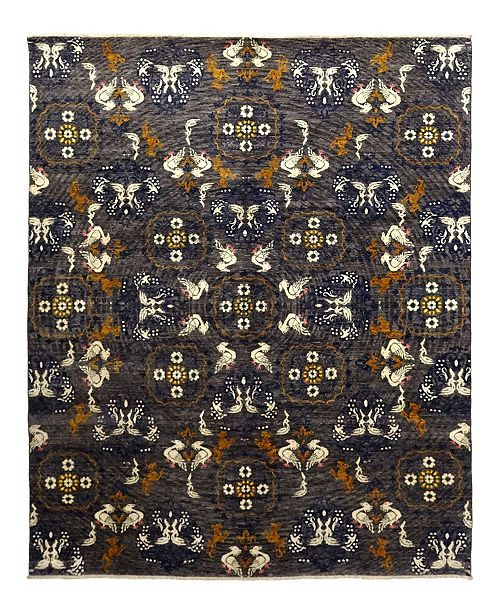 """Timeless Rug Designs CLOSEOUT! One of a Kind OOAK948 Charcoal 8'1"""" x 10'1"""" Area Rug"""
