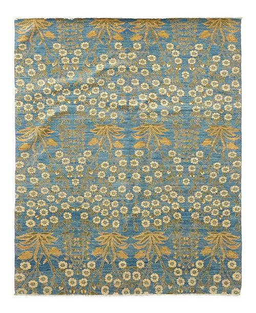 "Timeless Rug Designs One of a Kind OOAK977 Ocean 5'1"" x 8'3"" Area Rug"