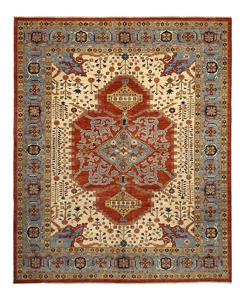 """Timeless Rug Designs CLOSEOUT! One of a Kind OOAK1100 Orange 8'6"""" x 10'3"""" Area Rug"""
