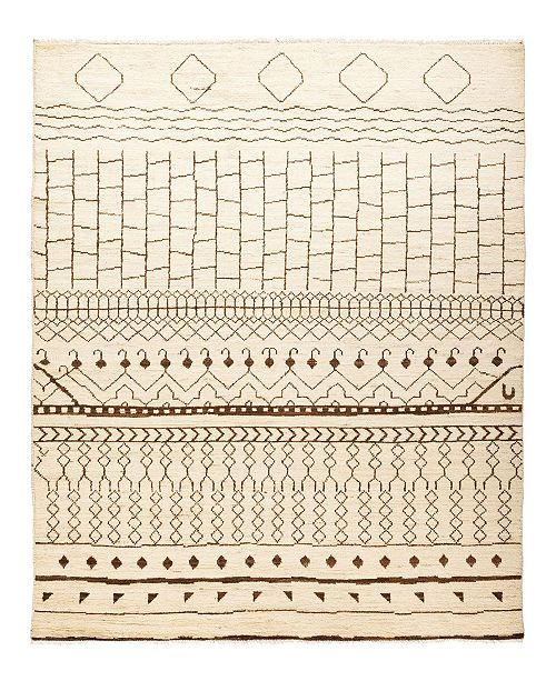 "Timeless Rug Designs CLOSEOUT! One of a Kind OOAK1177 Ivory 6'3"" x 8'10"" Area Rug"