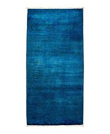 "One of a Kind OOAK1761 Sapphire 2'7"" x 5'8"" Runner Rug"