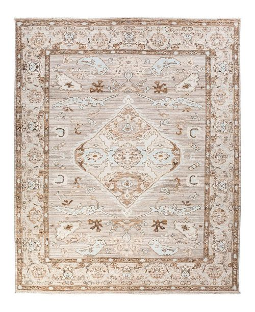 """Timeless Rug Designs CLOSEOUT! One of a Kind OOAK2004 Cream 8"""" x 9'9"""" Area Rug"""