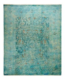 """One of a Kind OOAK2337 Blue 7'10"""" x 9'9"""" Area Rug"""