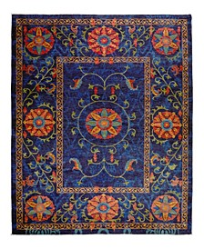 "One of a Kind OOAK2346 Cobalt 9'4"" x 12'8"" Area Rug"