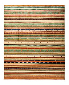 "CLOSEOUT! One of a Kind OOAK2837 Caramel 8'1"" x 10' Area Rug"