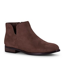 Dipper Ankle Bootie with V-Cut Detail