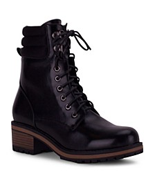 Oregon Lace-Up Ankle Bootie with Heel