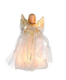 UL 10-Light 10-Inch Gold and Ivory Angel Treetop