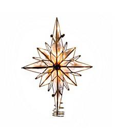 10-Light 10.5-Inch Multi-Pointed Bethlehem Star Treetop