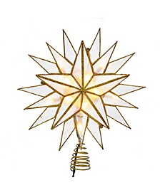 10-Light Gold Capiz Star Treetop