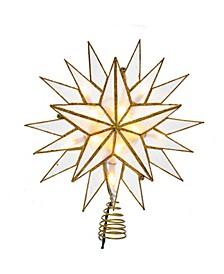 10-Light Gold Capiz Star Treetop