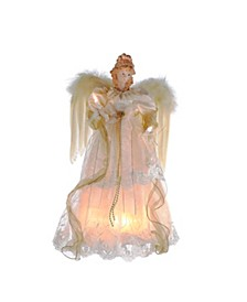 16.5-Inch 10-Light Ivory and Gold Angel Treetop