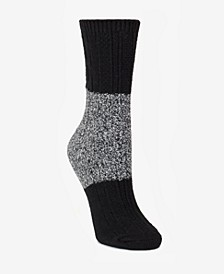 Super Soft Chunky Color-Blocked Boot Sock, Online Only