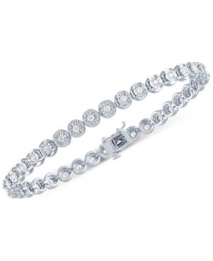 Lab Grown Diamond Tennis Bracelet (1 ct. t.w.) in Sterling Silver