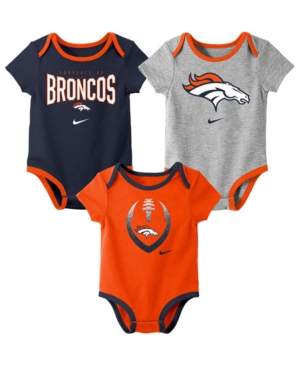Nike Baby Denver Broncos Icon 3 Pack Bodysuit Set