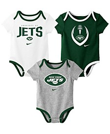 Baby New York Jets Icon 3 Pack Bodysuit Set