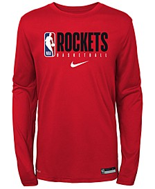 Big Boys Houston Rockets Practice Long Sleeve T-Shirt