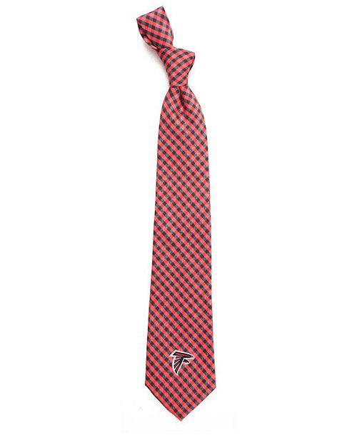 Eagles Wings Atlanta Falcons Poly Gingham Tie