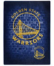 Golden State Warriors Raschel Throw Street Blanket