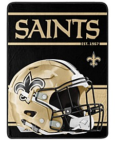 New Orleans Saints Micro Raschel Run Blanket