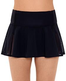 Woven Swim Skirt