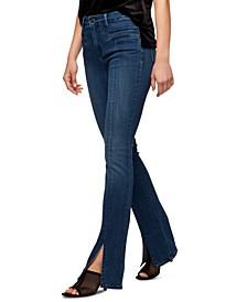 Demi Bootcut Split-Hem Jeans