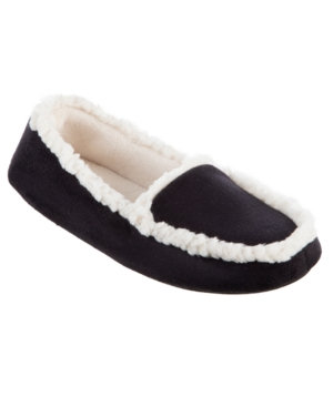 Isotoner Microsuede Alex Moccasin with Memory Foam Slippers, Online Only
