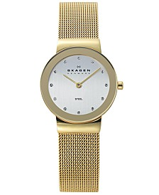 Women's Freja Gold Ion-Plated Stainless Steel Mesh Bracelet Watch 26mm 358SGGD