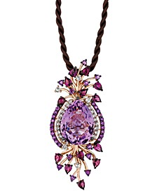 Crazy Collection® Multi-Stone Cord Pendant Necklace in 14k Strawberry Rose Gold (18 ct. t.w.)